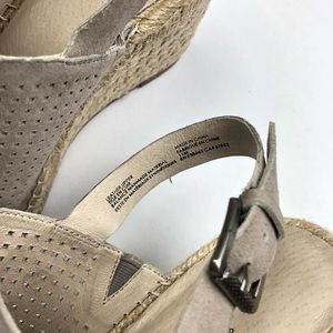 Caslon Shoes - Caslon Sutton Slingback Sandal Gray Suede Wedge